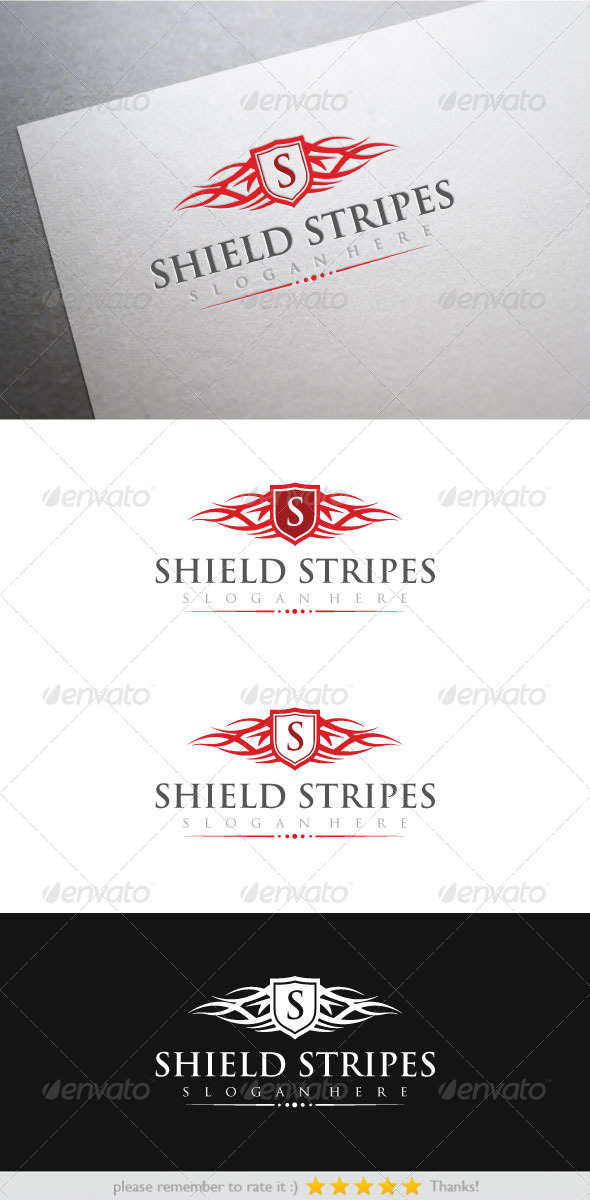 Shield Stripes - Crests Logo Templates