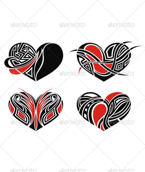 Tattoo Hearts - Tattoos Vectors