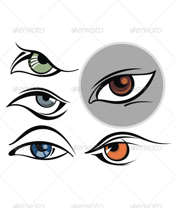 Collection of Eye Icons - Vectors