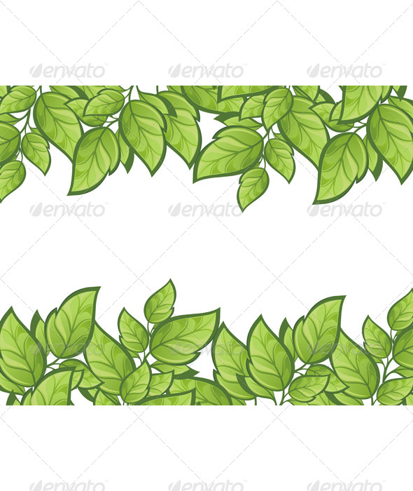 Green Leaves Background - Backgrounds Decorative