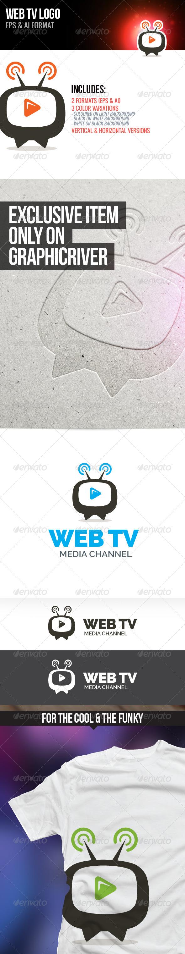 Web TV Logo - Objects Logo Templates