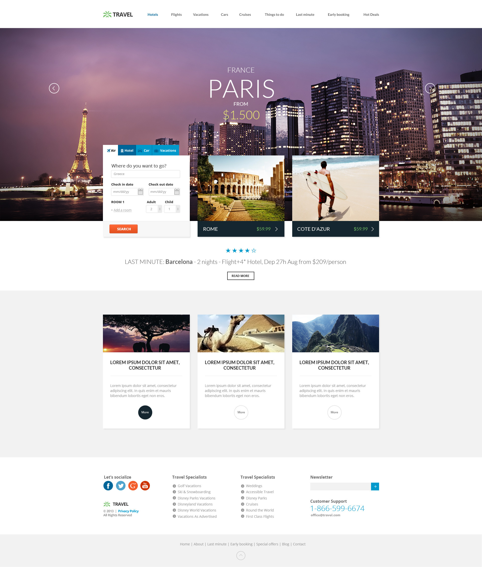 ea14a0b42c484b Travel Agency - Travel Online Hotel Booking by TitanicThemes ...