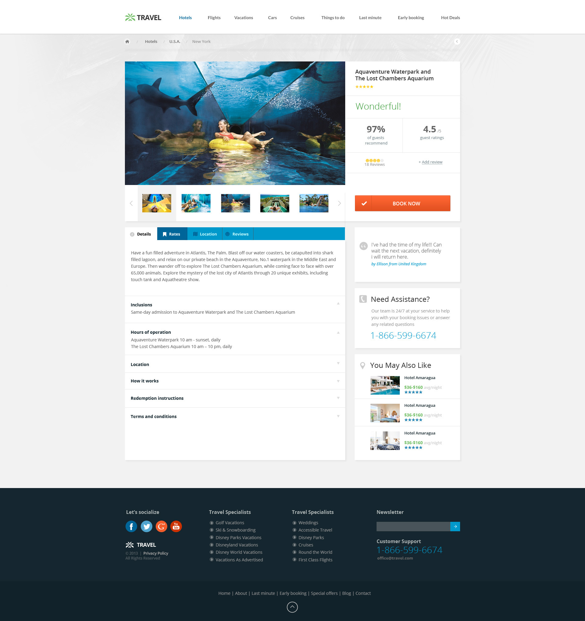 Travel Agency Travel line Hotel Booking by TitanicThemes