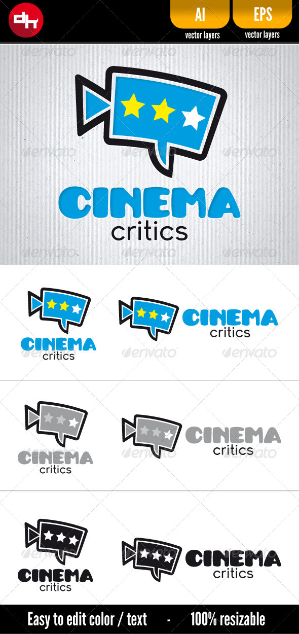 Cinema Critics - Symbols Logo Templates