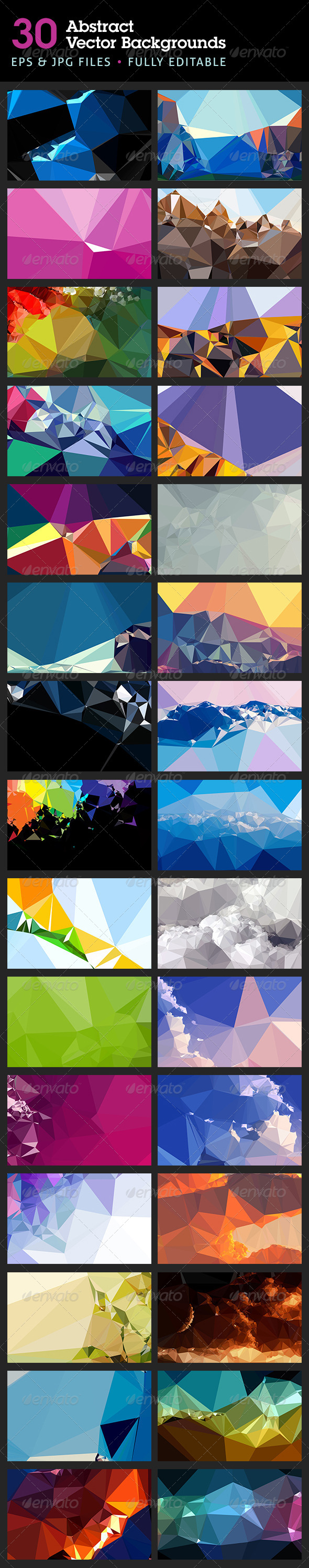 Abstract Backgrounds in Vector Format - Backgrounds Decorative