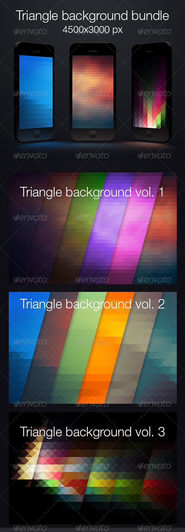 Bundle triangle background - Abstract Backgrounds