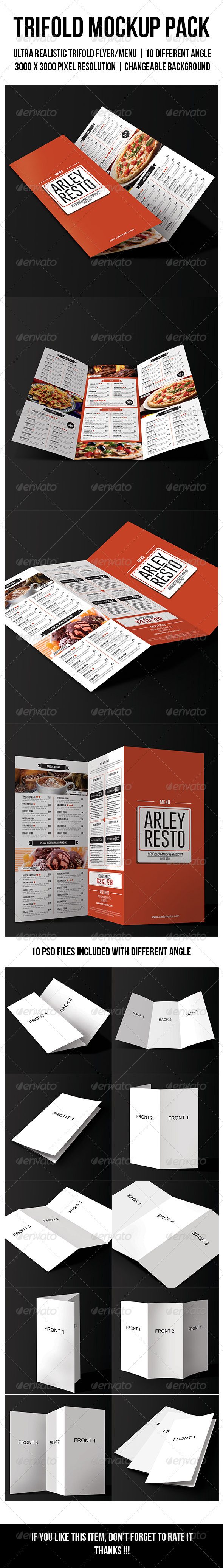 Trifold Mockup Pack - Flyers Print