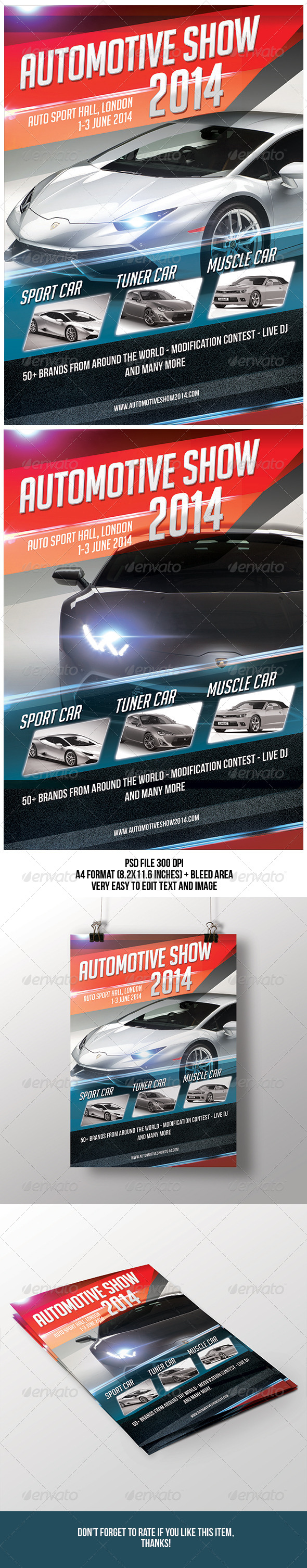 Automotive Show Flyer - Miscellaneous Events