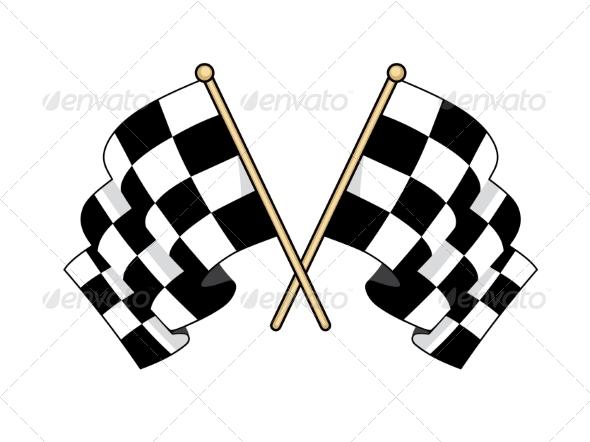 Checkered Flags - Sports/Activity Conceptual