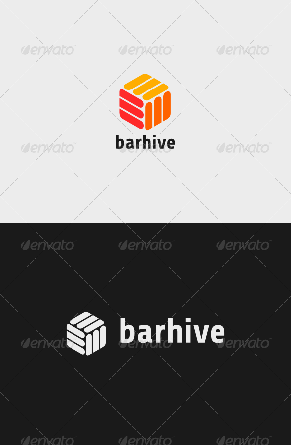 Bar Hive Logo - Vector Abstract