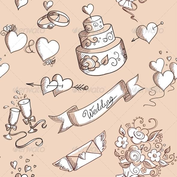 Seamless Wedding Pattern - Weddings Seasons/Holidays
