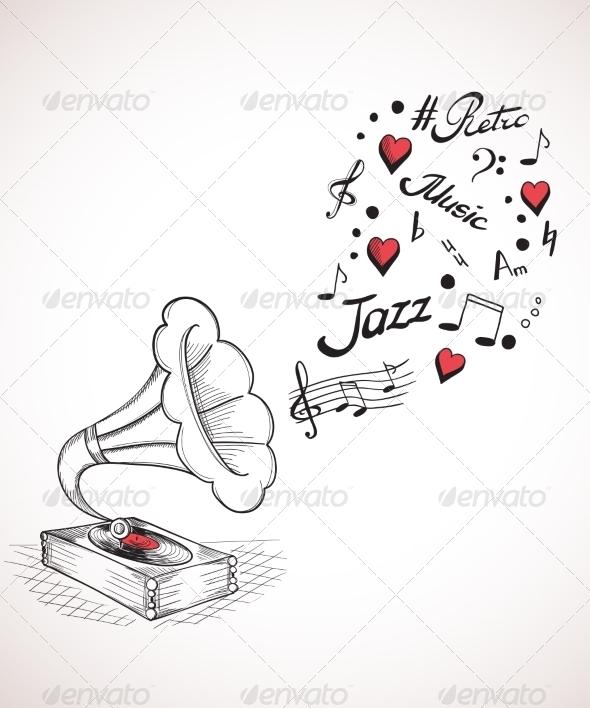 Gramophone  - Decorative Symbols Decorative