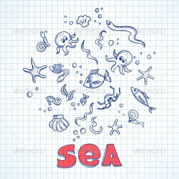 Sea Life Elements - Animals Characters