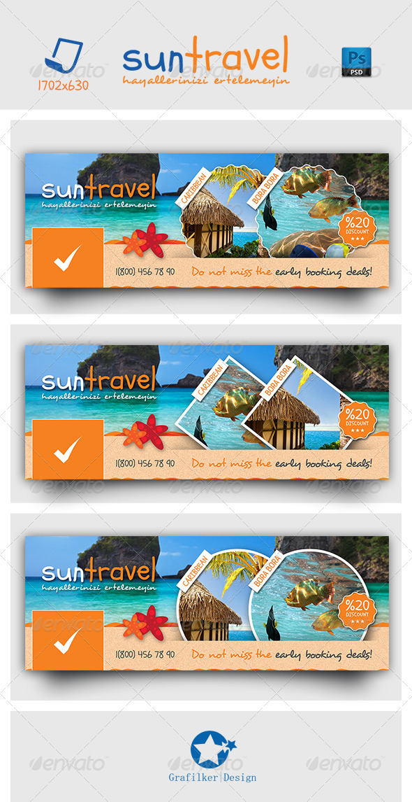 Travel Tours Face Timeline Templates - Facebook Timeline Covers Social Media