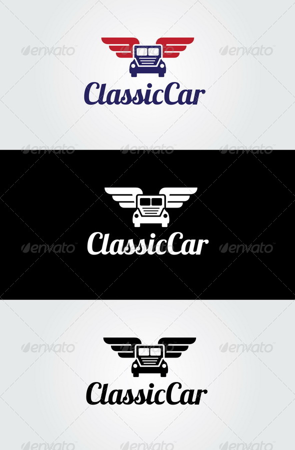 Classic Car Logo Template by glaxa | GraphicRiver