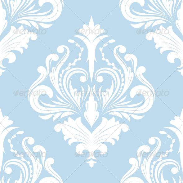 Pattern Blue Classic - Patterns Decorative