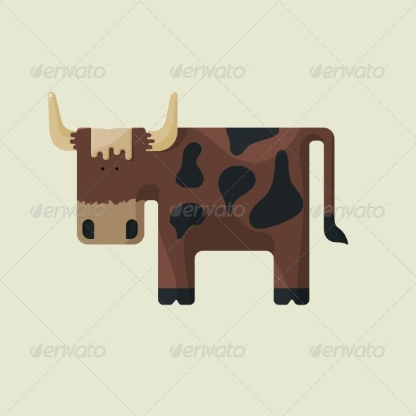 Cow Cartoon - Animals Characters