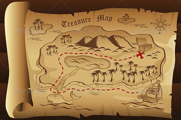 Treasure Map - Decorative Vectors