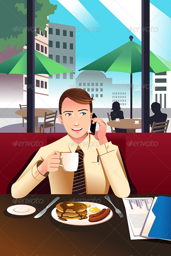 Businessman on the Phone - Business Conceptual