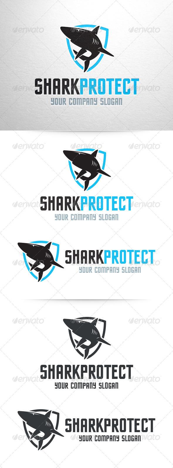 Shark Protect Logo Template - Animals Logo Templates