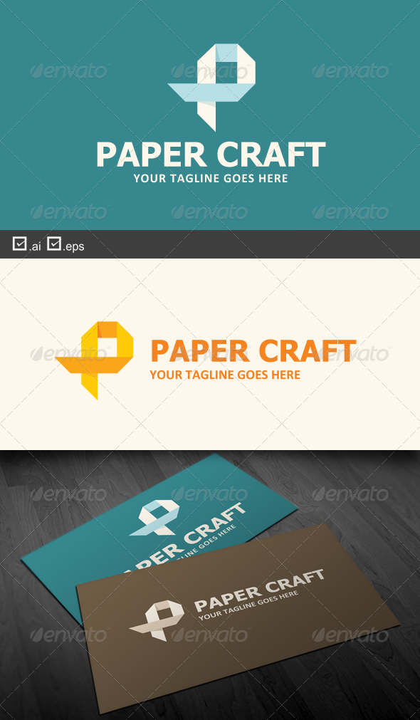 Paper Craft - Objects Logo Templates
