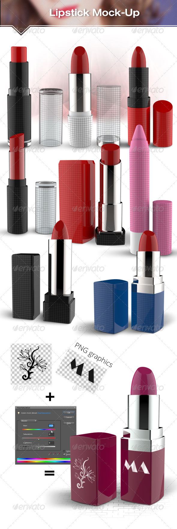 Lipstick Mockup - Beauty Packaging