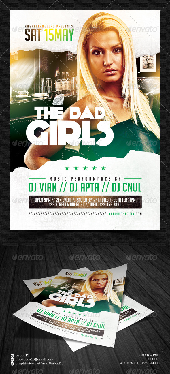 The Bad Girl Flyer Template - Events Flyers