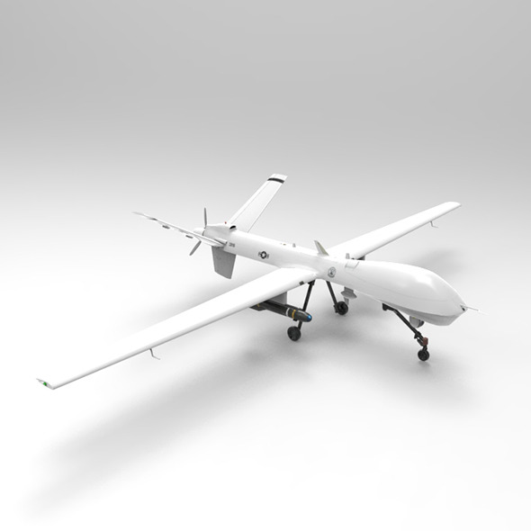 MQ-9 Predator - Drone - 3DOcean Item for Sale