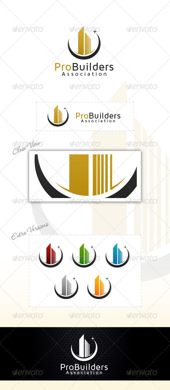 Market Builders - Buildings Logo Templates