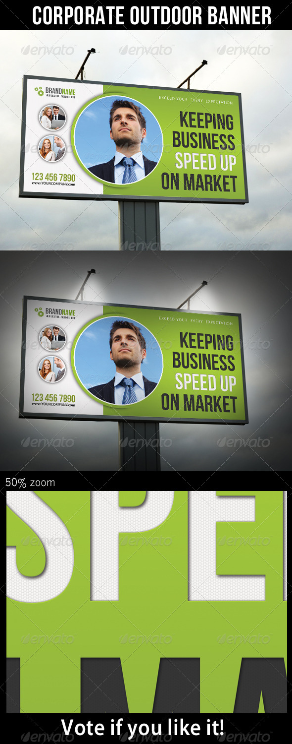 Corporate Outdoor Banner 28 - Signage Print Templates