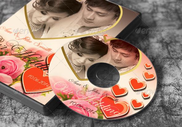 Wedding DVD Cover Vol.1 - CD & DVD Artwork Print Templates
