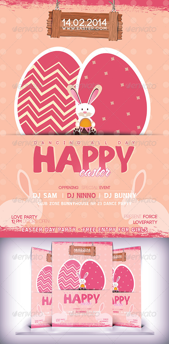 Easter Party Flyer - Flyers Print Templates