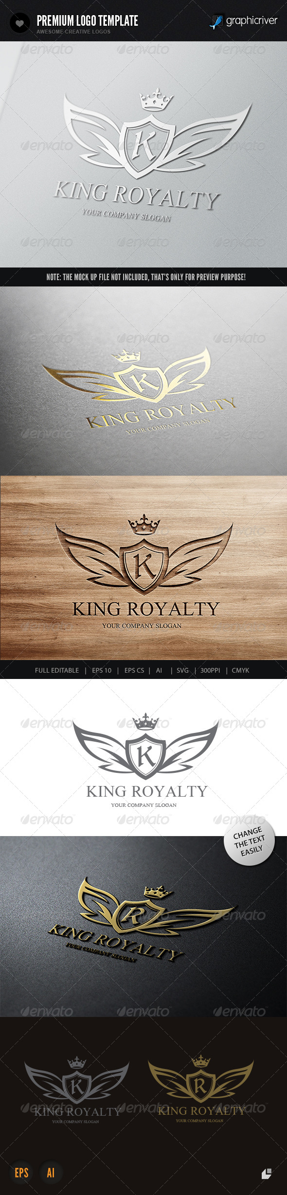 King Royalty - Crests Logo Templates