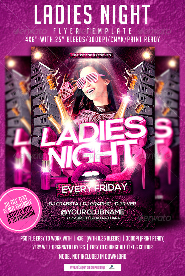 ladies night out club flyer - photo #12