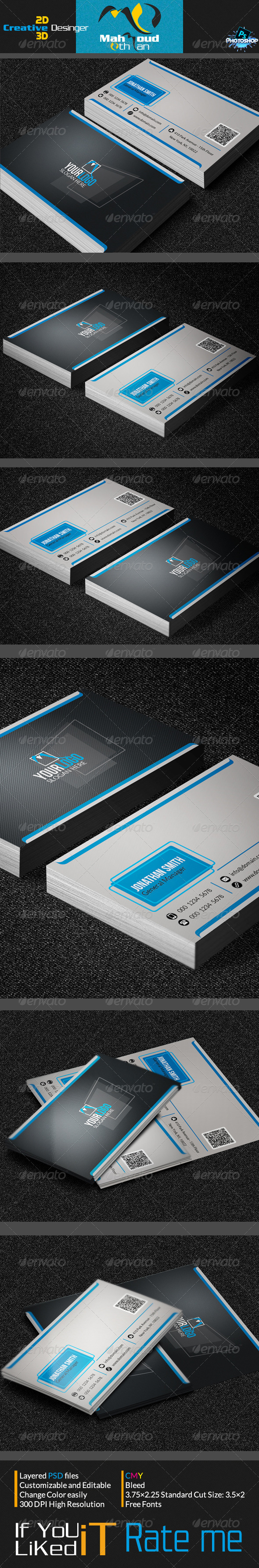 Smart Corporate Business Card 05 - Corporate Business Cards