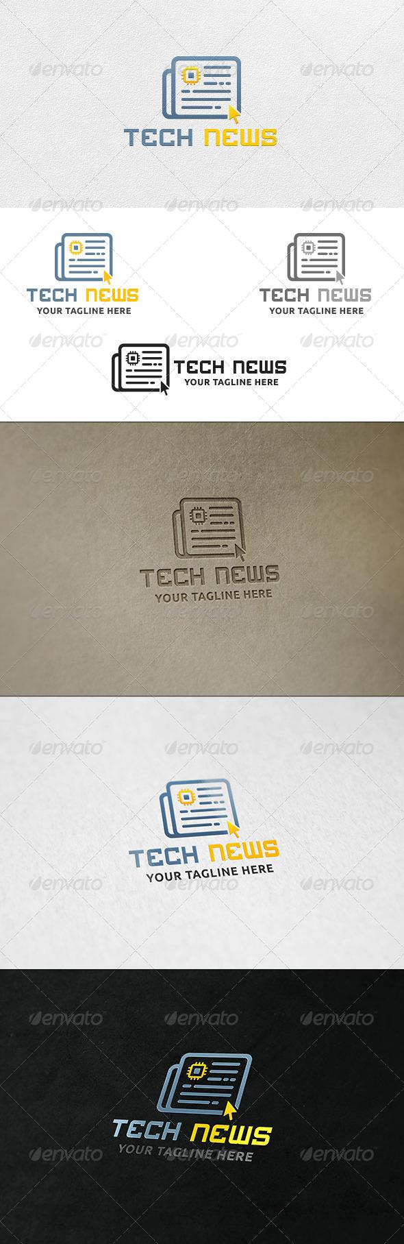 Tech News - Logo Template - Symbols Logo Templates