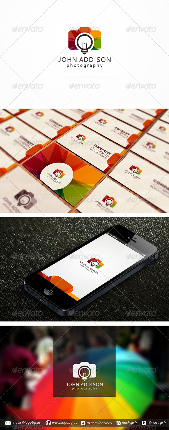 Photography Colors - Objects Logo Templates
