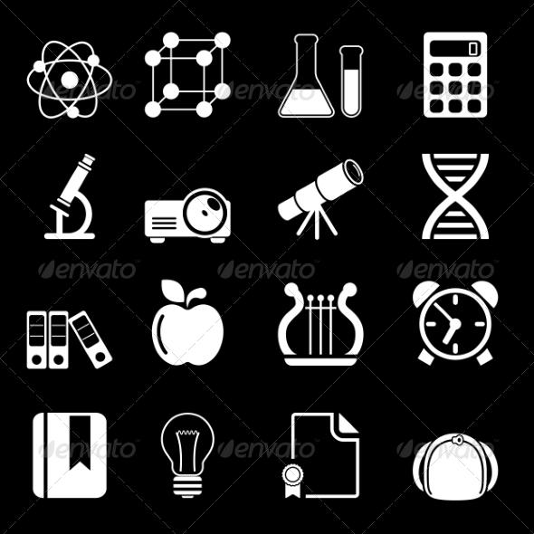 White Education Icons Vol 2 - Icons