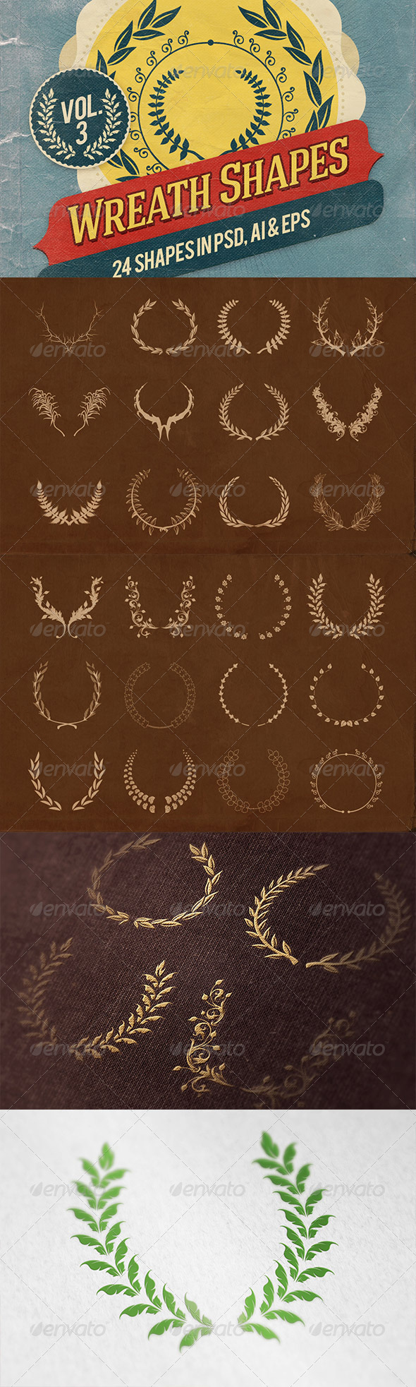 Wreath Shapes Vol.3 - Decorative Symbols Decorative