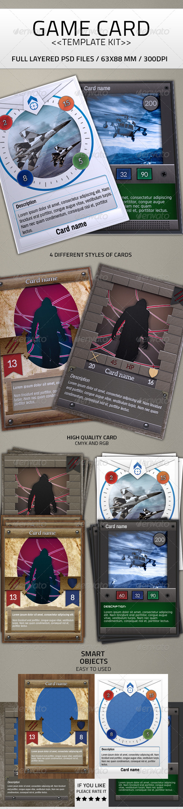 Card Game Kit Template - Miscellaneous Print Templates