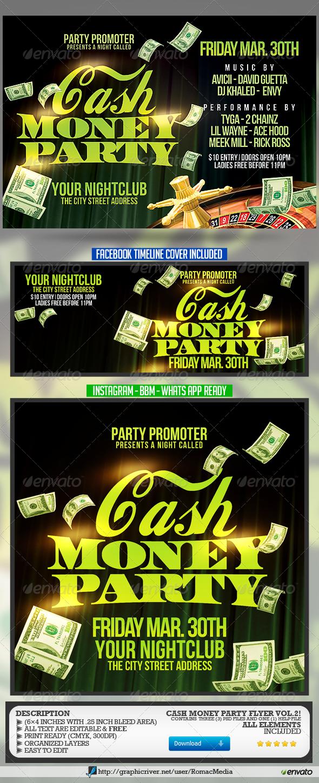 Cash Money Party Flyer Vol.2 - Clubs & Parties Events