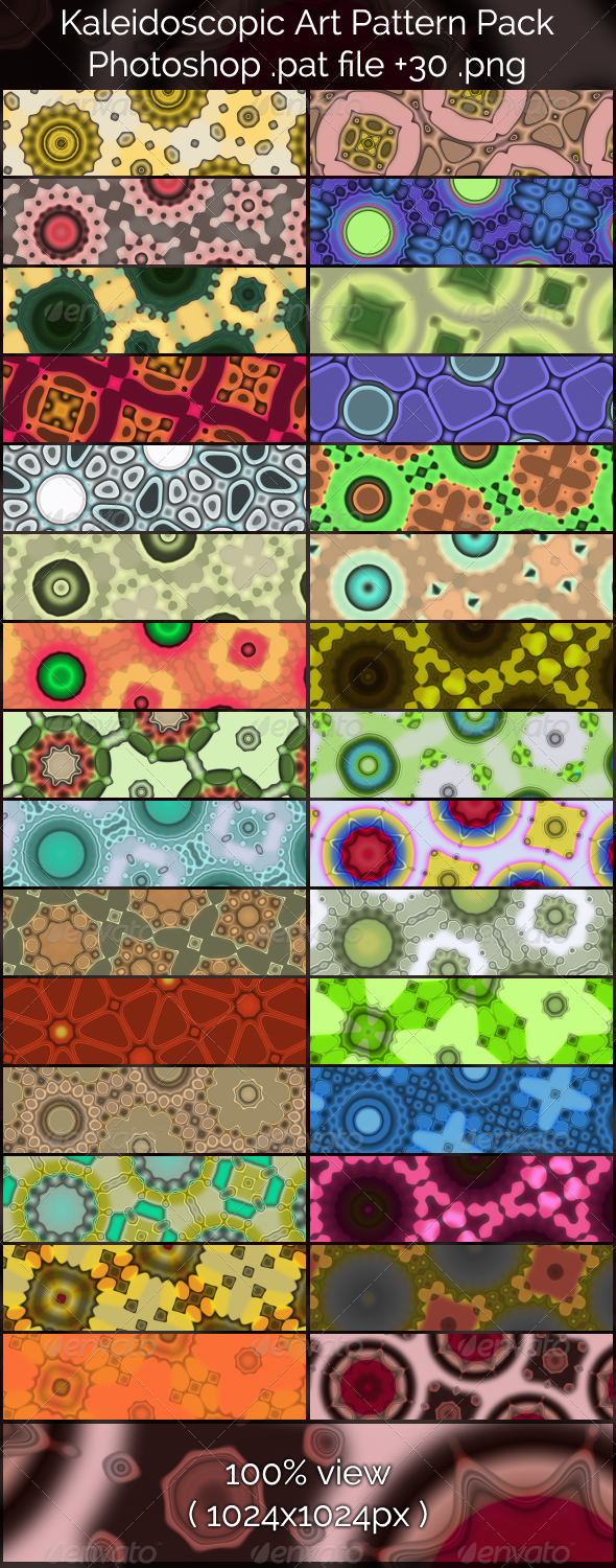 Kaleidoscopic Art Patterns - Abstract Textures / Fills / Patterns