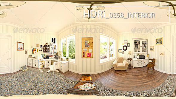 0358 Interoir HDRi - 3DOcean Item for Sale