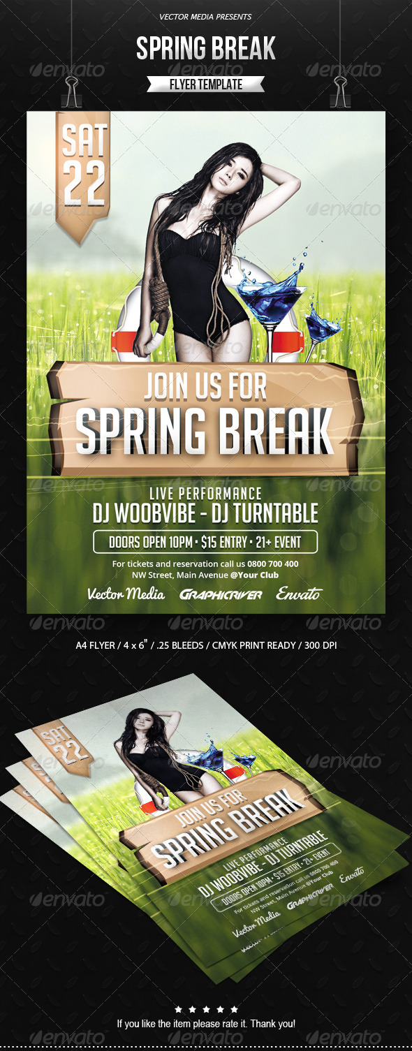 Spring Break - Flyer - Clubs & Parties Events
