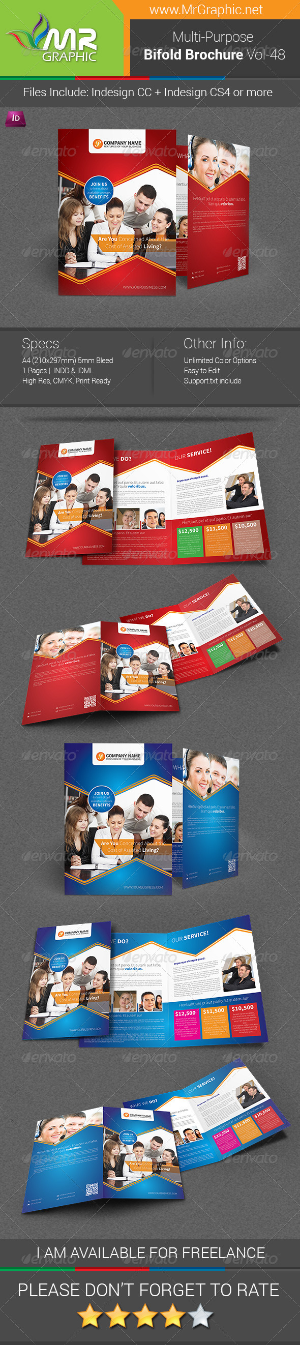 Multipurpose Bifold Brochure Template Vol-48 - Corporate Brochures