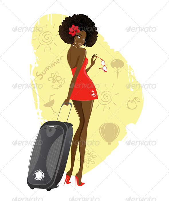 Girl with a Suitcase - People Characters