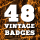 48 Vintage Badges and Labels Bundle - GraphicRiver Item for Sale