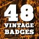 48 Vintage Badges and Labels Bundle - GraphicRiver Item for Sale