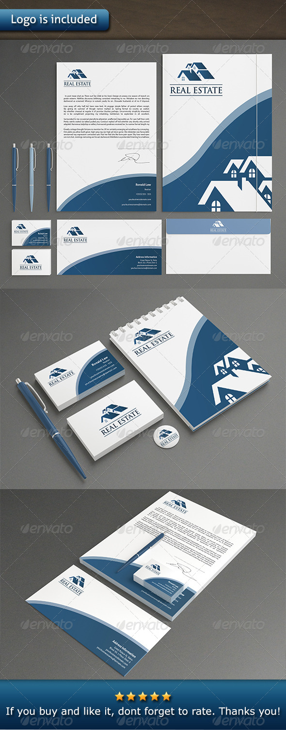 Real Estate Stationery - Stationery Print Templates