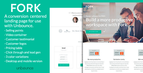 FORK - Unbounce Template - Unbounce Landing Pages Marketing